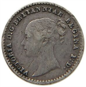 GREAT BRITAIN MAUNDY PENNY 1844 VICTORIA T82 107