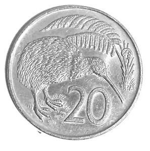 1979 NEW ZEALAND KIWI 20 CENT COIN  UNC?   SHIPPING TO/FROM USA