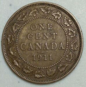 1911 CANADA LARGE CENT KING GEORGE CH1002