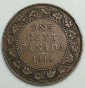 1918 CANADA LARGE CENT KING GEORGE CH1004