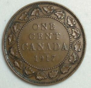 1917 CANADA LARGE CENT KING GEORGE CH1006