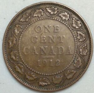1912 CANADA LARGE CENT KING GEORGE CH1001