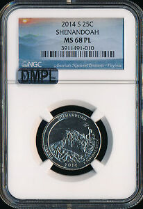 Click now to see the BUY IT NOW Price! 2014 S SHENANDOAH QUARTER NGC MAC MS68 FINEST GRADE DMPL..