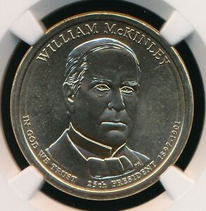 2013 D WILLIAM MCKINLEY DOLLAR NGC MS66