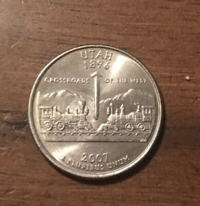 2007 P UTAH 50 STATES QUARTER  BUY 6 GET 40  OFF  0730
