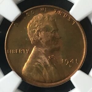Click now to see the BUY IT NOW Price! 1941 D 1C RB LINCOLN WHEAT CENT NGC MS68RB       4920629 001