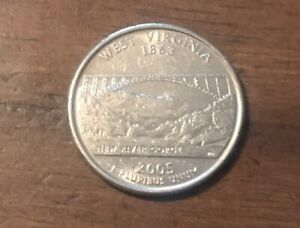 2005 D WEST VIRGINIA 50 STATES QUARTER BUY 6 GET 40  OFF 0804