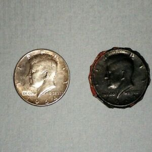 Click now to see the BUY IT NOW Price! JFK JOHN F KENNEDY 1964  1  SILVER &  1  BLACK HALF DOLLAR COIN  S
