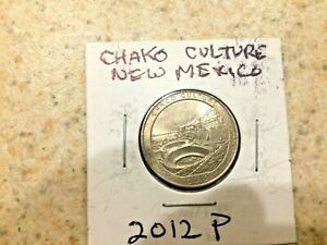 U.S. 2012 P BEAUTIFUL  ATB  CHAKO CULTURE NEW MEXICO QUARTER  IN MYLAR COIN FLIP