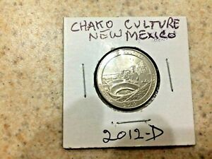 U.S. 2012 D BEAUTIFUL  ATB  CHAKO CULTURE NEW MEXICO QUARTER  IN MYLAR COIN FLIP