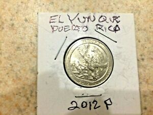 U.S. 2012 P BEAUTIFUL  ATB  EL YUNQUE PUERTO RICO QUARTER  IN MYLAR COIN FLIP