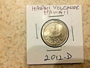 U.S. 2012 D  ATB  BEAUTIFUL HAWAII VOLCANOES HAWAII QUARTER  IN MYLAR COIN FLIP