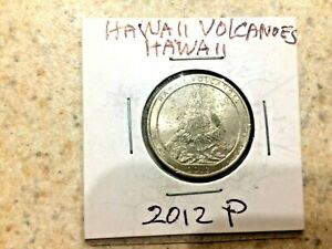 U.S. 2012 P  ATB  BEAUTIFUL HAWAII VOLCANOES HAWAII QUARTER  IN MYLAR COIN FLIP