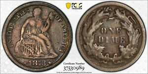 Click now to see the BUY IT NOW Price! 1873 SEATED LIBERTY W/ ARROWS DIME DDO FS 101 F 103 PCGS F15 DOUBLE DIE OBV
