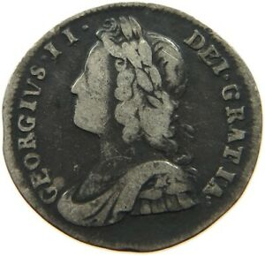 GREAT BRITAIN MAUNDY 2 PENCE 1737 GEORGE II. T70 591