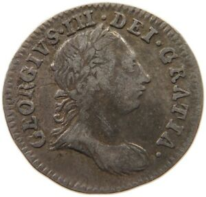 GREAT BRITAIN MAUNDY THREEPENCE 1762 GEORGE III. T70 617