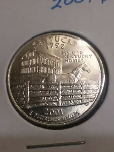 2001 P KENTUCKY STATE QUARTER UNCIRCULATED