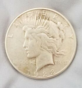 1928 S UNCOMMON ERROR ON MINT MARK LOCATION 90  SILVER ONE DOLLAR COIN 1928