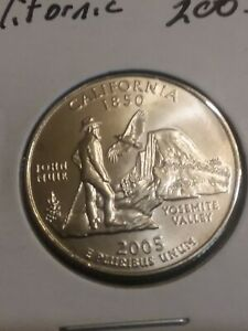 2005 D CALIFORNIA CA STATE QUARTER UNCIRCULATED FROM U.S. MINT   STATE QUARTERS