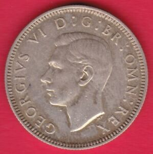 R  GREAT BRITAIN SHILLING SILVER 1943 GEORGE VI XF  DETAILS 31894