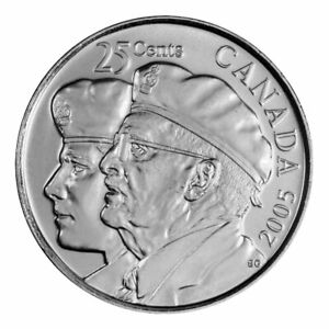 BU Canadian Quarter Canada 2006 Bravery 25 cents Nice UNC from roll