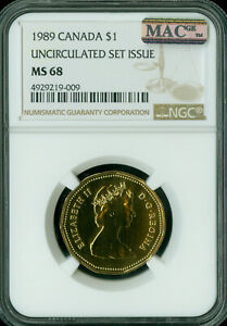 1989 CANADA LOON DOLLAR NGC MAC MS 69 2ND FINEST GRADED  ..