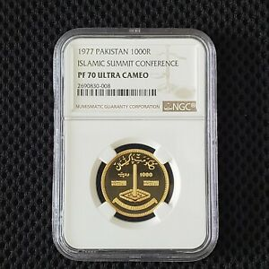 Click now to see the BUY IT NOW Price! 1000 RUPEES PAKISTAN 1977 GOLD NGC PF 70 UC ISLAMIC SUMMIT CONFERENCE