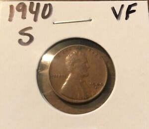 1940 S LINCOLN WHEAT CENT  0727  VF  BUY 8 GET 60  OFF