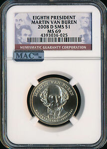 Click now to see the BUY IT NOW Price! 2008 D MARTIN VAN BUREN DOLLAR NGC MAC MS69 SMS PQ FINEST SPOTLESS