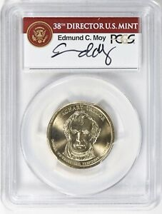 Click now to see the BUY IT NOW Price! 2009 ZACHARY TAYLOR MISSING EDGE LETTERING PCGS MS 68 MOY SIGNED