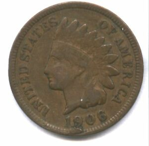 1906 INDIAN CENT   LAMINATION FLAP UNDER DATE   NEAT