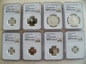 Click now to see the BUY IT NOW Price! BAHRAIN 1983 1 500 FILS SILVER COIN SET  8  ALL NGC PF 69 UC