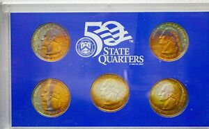 Click now to see the BUY IT NOW Price! 2003 S USA STATE QUARTERS PROOF SET 5 COINS TONED COLOR GEM UNC BU DEEP  DR