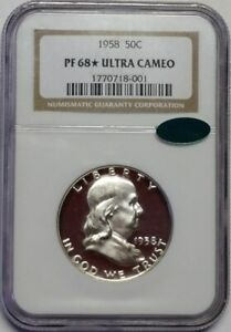 Click now to see the BUY IT NOW Price! 1958 NGC PROOF FRANKLIN HALF DOLLAR PR68  ULTRA CAMEO DCAM CAC