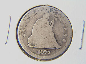 1877 LIBERTY SEATED SILVER QUARTER