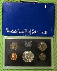 1968 UNITED STATES COINS PROOF MINT SET SEALED