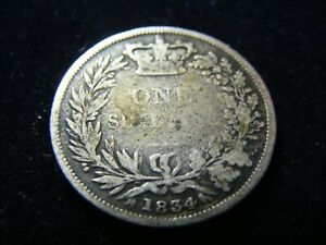 SILVER KING WILLIAM IV SHILLING 1834