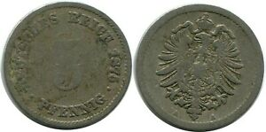 5 PFENNIG 1875 A GERMAN EMPIRE GERMANY DB234CW