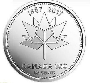 CANADA 2017  FIFTY CENT 50 COIN  150TH ANNIVERSARY OF CANADA  'SPECIAL EDITION'