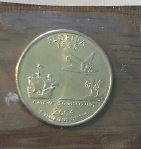 2004 P FLORIDA STATE QUARTER  BUY 6 GET 40  OFF  1016  BU