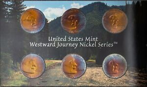 Click now to see the BUY IT NOW Price! 2005 US MINT WESTWARD JOURNEY NICKELS SET PROOF UNC COLOR BU NICE TONED 1  DR