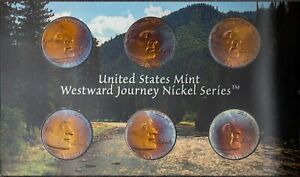 2005 US MINT WESTWARD JOURNEY NICKELS SET PROOF UNC COLOR BU NICE TONED 1  DR