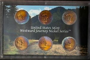 2005 US MINT WESTWARD JOURNEY NICKELS SET PROOF UNC TONED NICE COLOR BU 2  DR