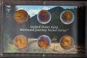 2005 US MINT WESTWARD JOURNEY NICKELS SET PROOF UNC TONED NICE COLOR BU 6  DR