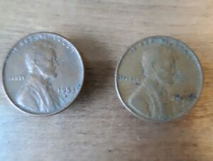 1946 AND 1953 D PENNY WHEAT