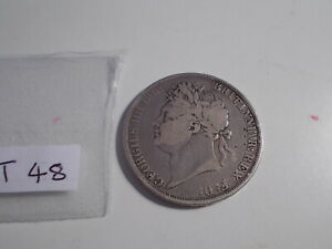 1821 GEORGE IV CROWN SILVER COIN