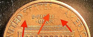 1998 D RED LINCOLN PENNY MISSING LETTERS DIE ERROR  MINT ERROR