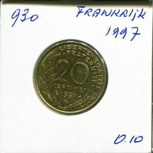 20 CENTIMES 1997 FRANCE FRENCH COIN AN200CW