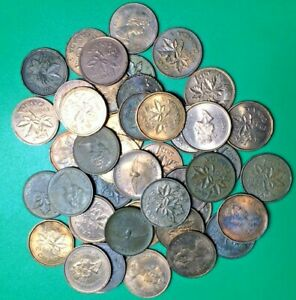 LOT OF 47 CANADIAN 1C PENNIES VARIOUS YEARS CANADA