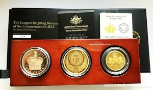 Click now to see the BUY IT NOW Price! CANADA AUSTRALIA UNITED KINGDOM 2015 THE LONGEST REIGNING MONARCH 3  X GOLD COIN